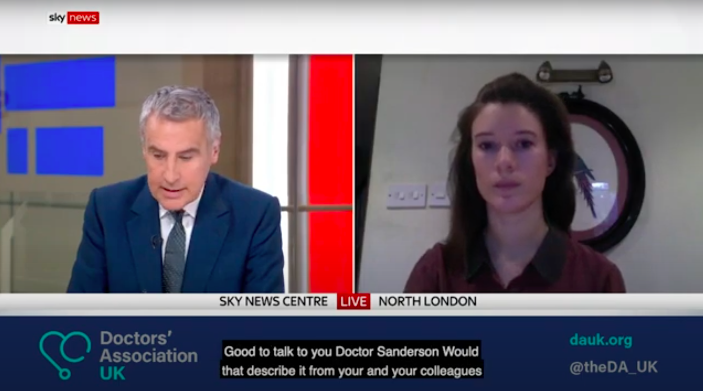 DAUK on Sky News: Dr Katie Sanderson discusses the severe situation in hospitals as Covid-19 cases continue to rise