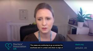 DAUK on ITV News: Dr Samantha Batt-Rawden warns of the Covid crisis in hospitals