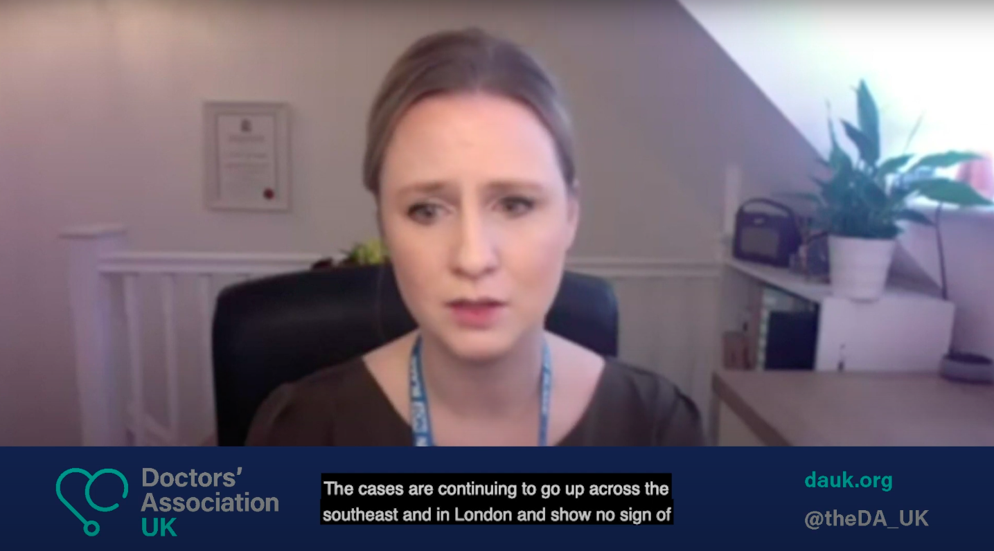 DAUK on ITV News: Dr Samantha Batt-Rawden warns of the Covid crisis in hospitals